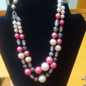 Vintage 50s Double Strand Beads
